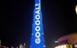 الصورة: برج خليفة ينقل مونديال روسيا