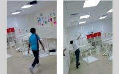 """الصورة: """"التربية"""" تحرم طلبة """"فيديو اتلاف أثاث المدرسة"""" من درجات السلوك"""