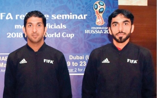 الصورة: طاقم التحكيم الإماراتي ظهر رسمياً  في مباراة ألمانيا والمكسيك