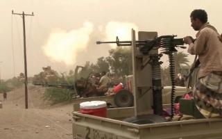 الصورة: المقاومة اليمنية تحاصر ميليشيــات الحوثي الإيرانية في مدينة الحديدة مــن 3 جهات