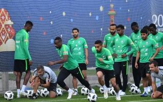 الصورة: الأخضر السعودي يواصل اعداده لموقعة أورغواي