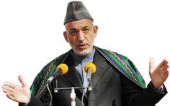 الصورة: إنترفيو .. كرزاي: حل الصراع الأفغاني يتم بالحوار.. ووقف دعم الجماعات المسلحة