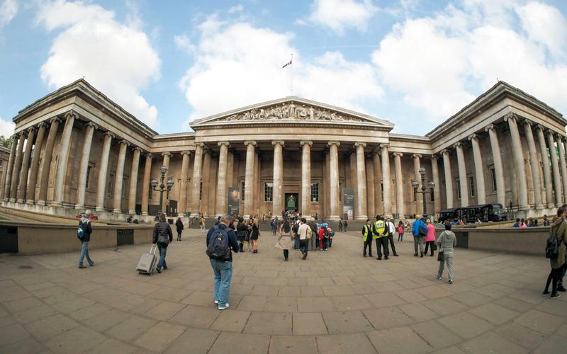 المتحف البريطاني من أعرق المتاحف في العالم.  أرشيفية