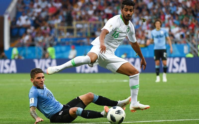الصورة: السعودية تمسح خماسية روسيا بأداء مشرِّف أمام أوروغواي