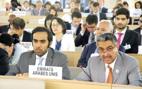 الصورة: الإمارات تؤكد حرصها على التعــامل مع آليات مجلس حقوق الإنسان بصـدق وشفافية