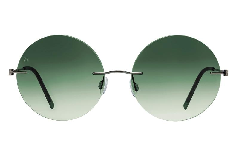 الصورة: العدسة المستديرة على عرش النظارات الشمسية