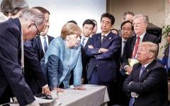 الصورة: ترامب يستأسد أمام الدول الصديقة ويرتبك أمام العدوة