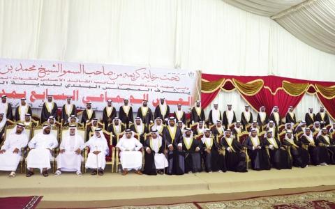 الصورة: عرس جماعي في الذيد لـ 200 شاب وفتاة