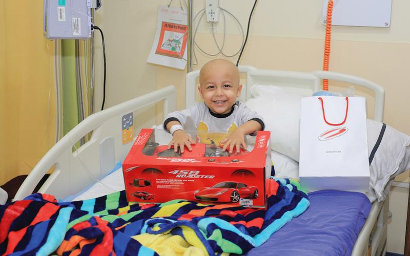 «عربة المرح» تدعم الأطفال الذين يقاومون السرطان وتشجعهم على عيش حياة طبيعية. من المصدر