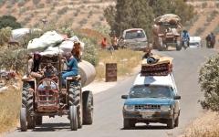 الصورة: هدنة تمهّد لمصالحة بين المعـــارضــة والحكومة جنوبي سورية.. ونزوح 120 ألفاً من درعا