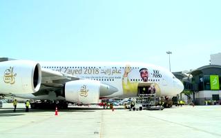 """الصورة: """"طيران الإمارات"""" تشغل طائرتها A380 إلى مسقط لمرة واحدة"""