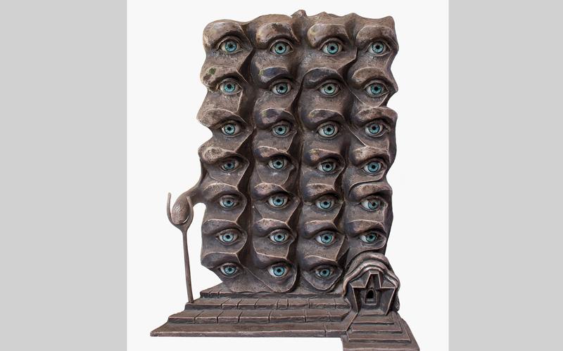 عمل لسلفادور دالي بعنوان «عيون سريالية». من المصدر
