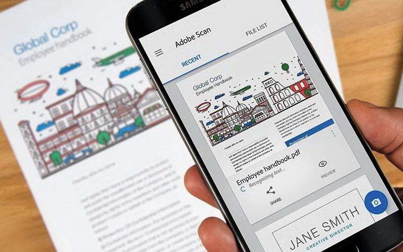 الصورة: «أدوبي» تُطلق تطبيقاً لمسح المستندات في الهاتف