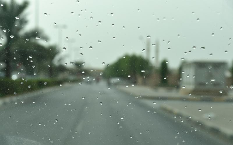 سقوط أمطار متفاوتة الشدة في العين ودبي