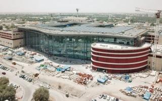 الصورة: إنجاز 66% من أعمال مشروع مستشفى العين الجديد