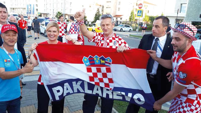 نتيجة بحث الصور عن صور رئيسة كرواتيا في النهائي