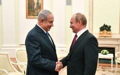 الصورة: نتنياهو لبوتين: إسرائيل لا تريد تهديد نظام الأسد في سورية