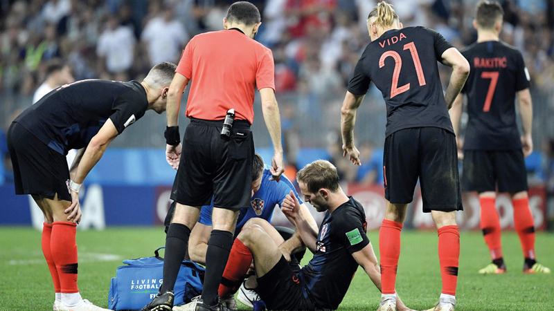 لاعبو كرواتيا بذلوا مجهوداً بدنياً كبيراً في المونديال. أ.ف.ب