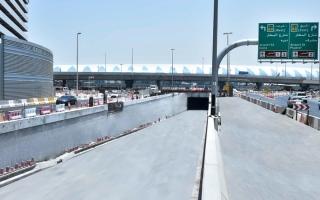 الصورة: «طرق دبي» تفتتح نفقاً يربط بين شارعي المطار ومراكش