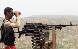 الصورة: الجيش يدخل أولى مناطق مسقــــط رأس الحوثي في حيدان صعدة
