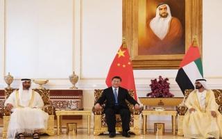 الصورة: الرئيس الصيني: الإمارات نموذج مثالي للتنمية والازدهار في العالم العربي