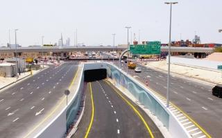 الصورة: «طرق دبي» تفتتح نفقاً بين شارعي السعادة وميدان