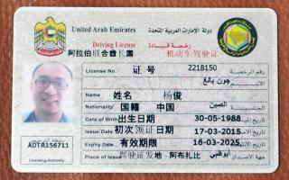 الصورة: رخصة قيادة باللغة الصينية