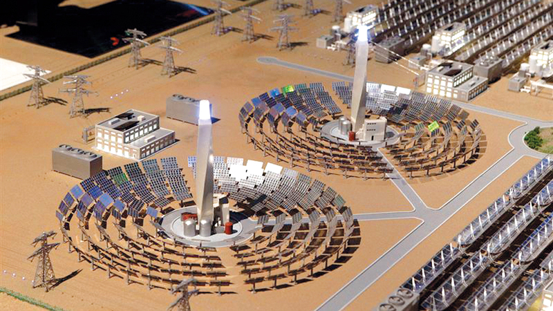 تقرير مكتب التنظيم لقطاع الكهرباء والمياه ركز على ترسية المرحلة الرابعة من مجمع محمد بن راشد آل مكتوم للطاقة الشمسية. أرشيفية