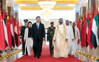 الصورة: محمد بن راشد ومحمد بن زايــد: زيارة الرئيس الصيني تاريخية وتؤسس لمرحلة استراتـيــجية بيــن البلدين