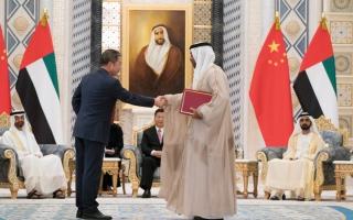 الصورة: توقيع 13 اتفاقية ومذكرة تفاهم بين الإمارات والصين