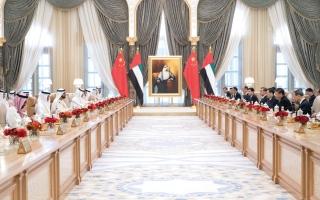 الصورة: الرئيس الصيني: الإمارات بلدي الثاني.. وما حققته «معجزة صحراوية»