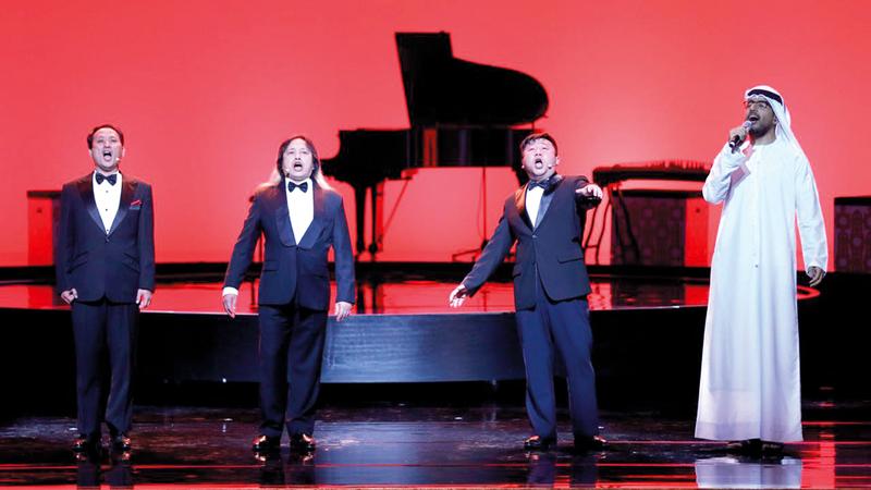 شباب الإمارات والصين عزفوا مقاطع موسيقية مشتركة عكست عمق التمازج الحقيقي بين ثقافات وحضارات البلدين.  من المصدر