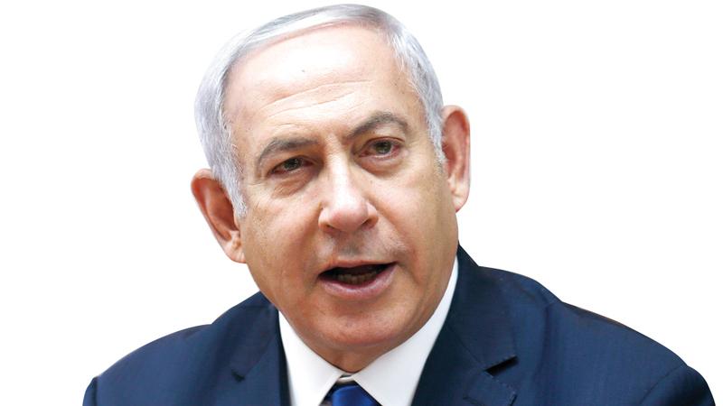 نتنياهو أثنى على القرار وقال إن إسرائيل الديمقراطية الوحيدة في الشرق الأوسط. أ.ب
