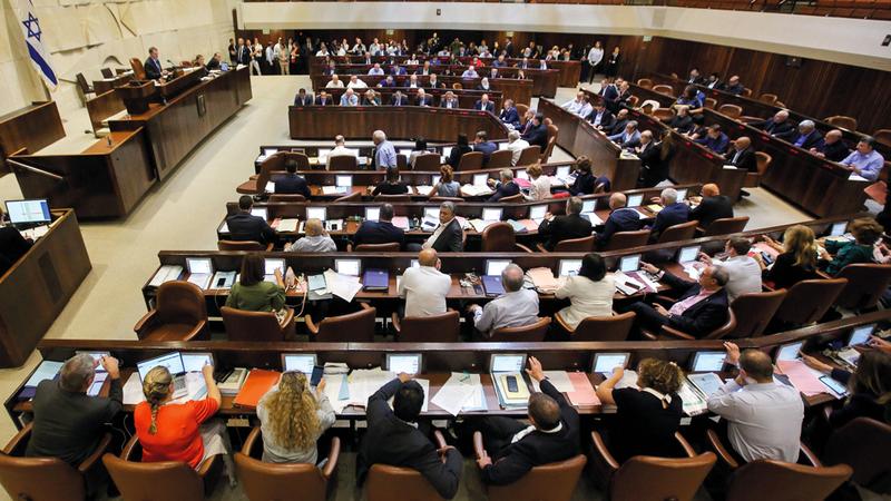 «الكنسيت» الإسرائيلي وافق على القانون الجديد الذي يعزز مكانة إسرائيل دولة «أبارتهايد». أ.ف.ب