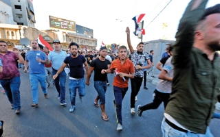 الصورة: العراق: تظاهرات في محافظتي الديوانية والمثنى
