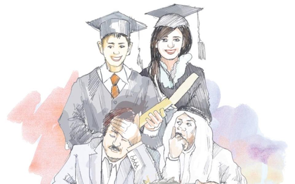 الصورة: «خريجون مع وقف التنفيذ».. والسبب التعثر  في سداد الرسوم الدراسية