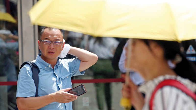 درجات حرارة غير مسبوقة في اليابان.  أ.ب