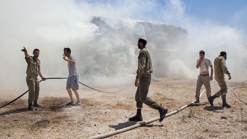 «حماس» تريد تصدير الغضب الجماهيري إلى خارج القطاع.  أ.ب