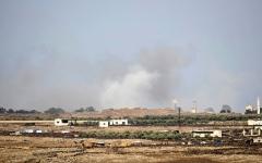 الصورة: إسرائيل تسقط طائرة «سوخوي» سورية فوق الجولان المحتل