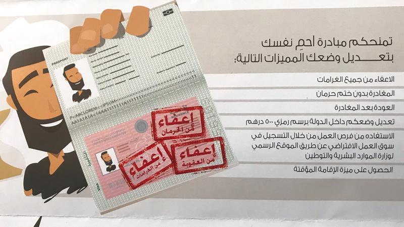 تعديل الوضع يتيح للمخالف العودة إلى الدولة بتأشيرة دخول من دون معوقات. من المصدر