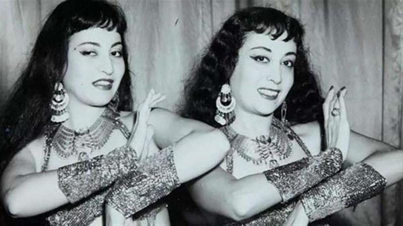 ليلى ولميا جمال لمع اسمهما في ملهى «قصر الحلمية» وعرفتا باسم «ليس ولين» في الخمسينات. أرشيفية