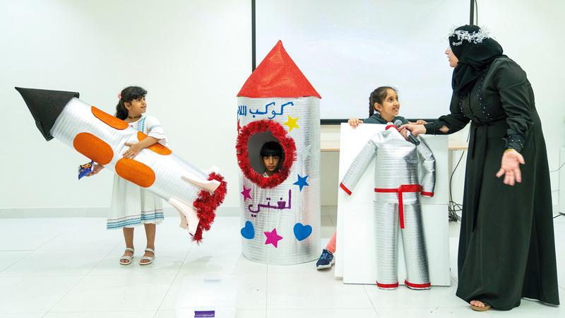 الورشة نُفذت بأسلوب تفاعلي نال إعجاب الأطفال. من المصدر