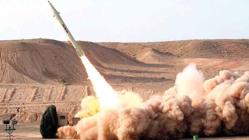 الصاروخ الإيراني الفاتح 110 هو الأشد خطراً على إسرائيل. أ.ف.ب