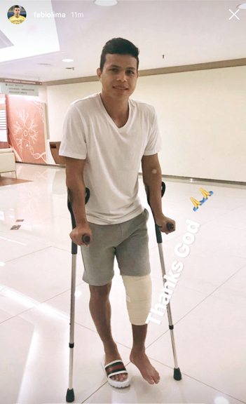 ليما نشر صورة له على حسابه في «إنستغرام» عقب إجراء  العملية الجراحية. من المصدر
