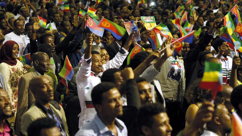 الاحتفالات بالمصالحة تعمّ أديس أبابا. عن «قناة العربية»