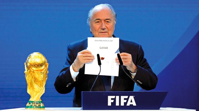 ملف قطر لاستضافة كأس العالم اعتمد على التشهير بالمنافسين. أرشيفية