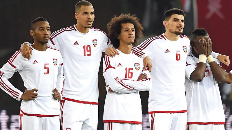 المنتخب يعتمد على عدد كبير من لاعبي العين. تصوير: أسامة أبوغانم