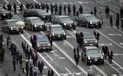 الصورة: موكب الرئيس الأميركي «كابوس لوجيستي» يومي لرجال الخدمة السرية