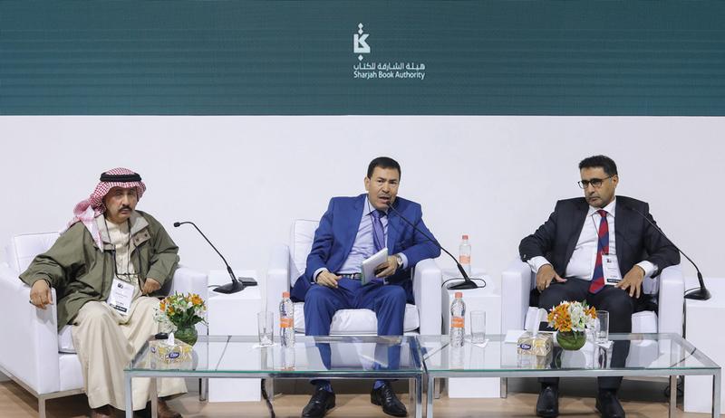 من اليمين: سعيد حمدان وخالد بن ققة وحمد بن صراي. من المصدر