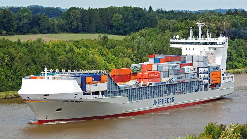 «يونيفيدر غروب» تعد أكبر شبكة لوجستية لتشغيل سفن شحن الحاويات المتوسطة في أوروبا. من المصدر
